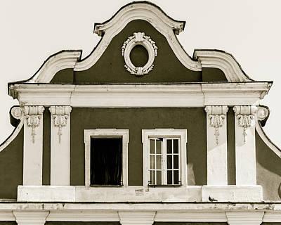 Photograph - Capital Of Facade In Poland Circa 1900 by Jacek Wojnarowski
