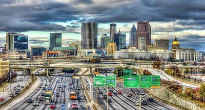 Capital Of The South Atlanta Skyline Cityscape Art Art Print