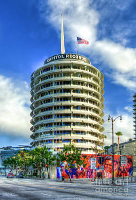 Photograph - Capital Records Building Hollywood Landmark Building Los Angeles California Art by Reid Callaway