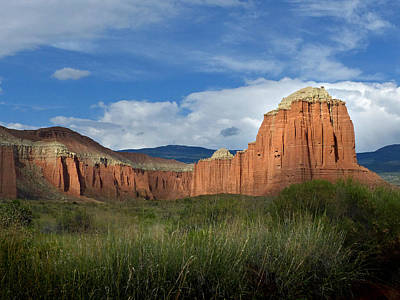 Photograph - Capital Reef Cathedral Valley 11 by Jeff Brunton