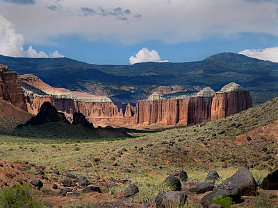 Photograph - Capital Reef-cathedral Valley 45  by Jeff Brunton