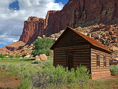 Photograph - Capital Reef Fruita Schoolhouse 2 by Jeff Brunton
