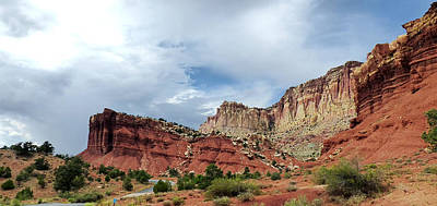 Photograph - Capital Reef Gorge Section 12 by Jeff Brunton