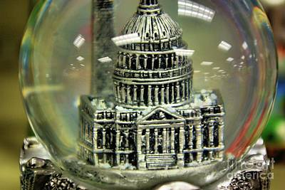Photograph -  Capital Snow Globe  by John S
