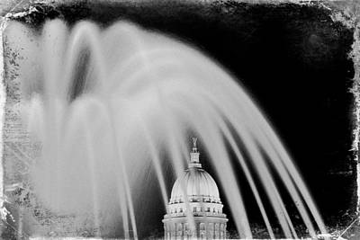 Capital Stained Art Print by Todd Klassy