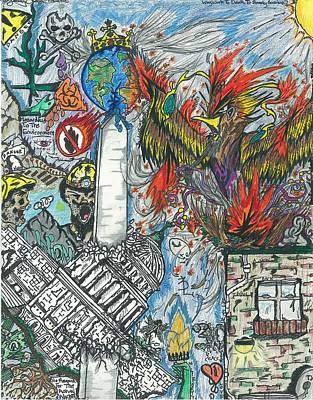 Pheonix Drawing - Capitalism by Justin Chase