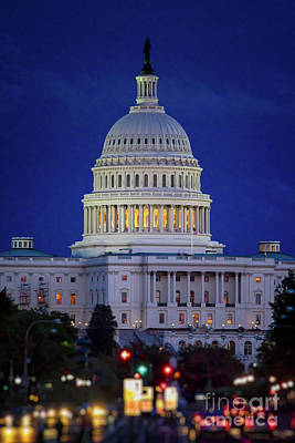 Capitol At Dusk Art Print
