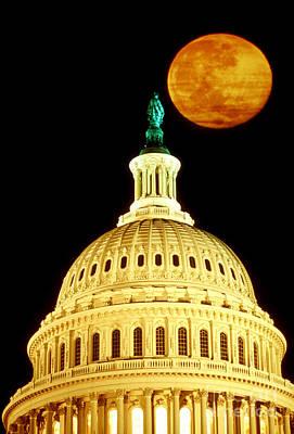 Photograph - Capitol Building In Washington Dc by Joseph Sohm