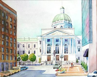 Capitol Building Painting - Capitol Building by Noreen Dayon