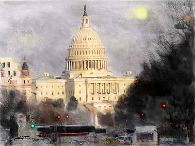 Painting - Capitol Building Washington, Dc -  Display Only by Dale Turner