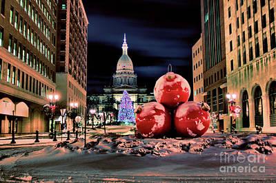 Photograph - Capitol Christmas by Matthew Winn