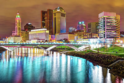Photograph - Capitol City Lights - Columbus Ohio Skyline by Gregory Ballos