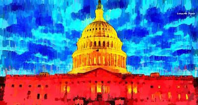 Capitol - Da Art Print