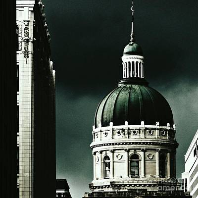 Photograph - Capitol Dome - Indiana by Jenny Revitz Soper