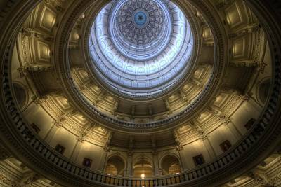 Photograph - Capitol Dome Interior by Van Sutherland