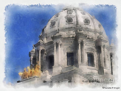 Photograph - Capitol Dome St Paul Minnesota by Paulette B Wright