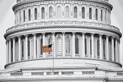 Photograph - Capitol Flag by John Schneider