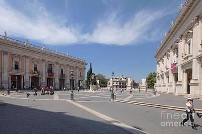 Photograph - Capitol Hill Rome 2 by Rudi Prott