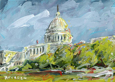 Painting - Capitol Hues by Dave Baysden