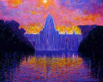 Capitol Building Painting - The United States Capitol At Sunset   by Errol McKinson