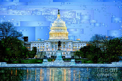 Digital Art - Capitol In Washington D.c  by Rafael Salazar