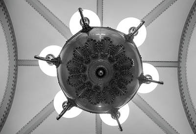 Government Photograph - Capitol Light And Lines In Black And White by Greg Mimbs