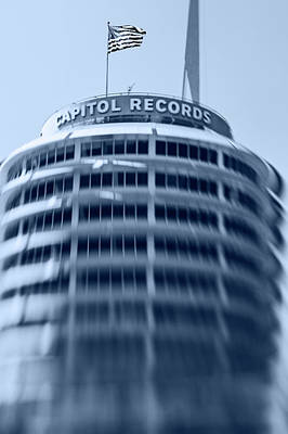 Capitol Records Building 16 Art Print by Micah May