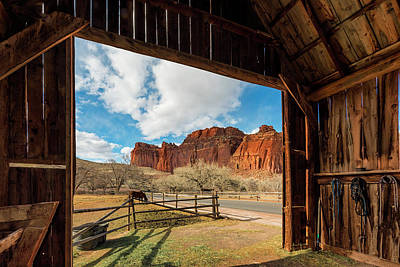 Capitol Reef National Park Photograph - Capitol Reef Barn by Dave Koch