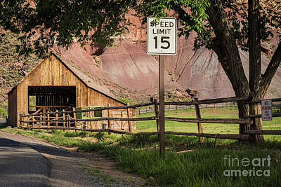 Photograph - Capitol Reef Barn - Gifford Homestead by Gary Whitton