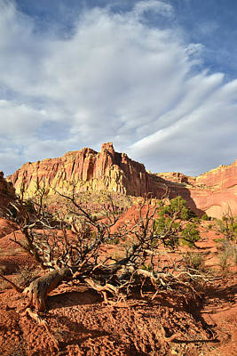 Photograph - Capitol Reef Clouds by Ray Mathis