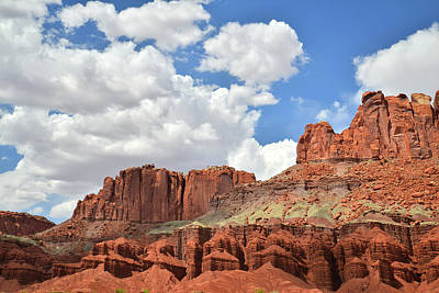 Photograph - Capitol Reef From Scenic Byway 24 by Ray Mathis
