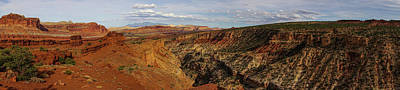 Photograph - Capitol Reef National Park Panorama by Lawrence S Richardson Jr