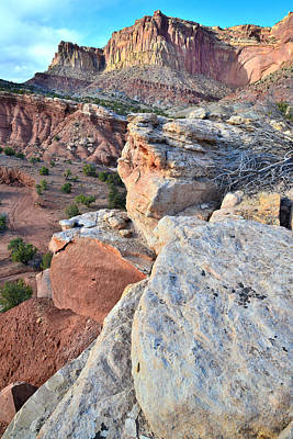 Photograph - Capitol Reef Ramparts by Ray Mathis