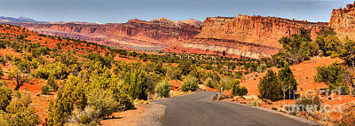 Photograph - Capitol Reef Scenic Drive Landscape by Adam Jewell