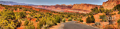 Photograph - Capitol Reef Scenic Drive Panorama by Adam Jewell