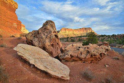 Photograph - Capitol Reef Scenic Drive Sunset by Ray Mathis