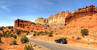 Photograph - Capitol Reef Subaru Outback by Adam Jewell