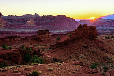 Capitol Reef Sunrise Art Print