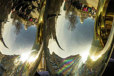 Sousaphone Photograph - Capitol Reflection - Madison - Wiscosnin by Steven Ralser