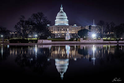 Photograph - Capitol Reflects by Framing Places