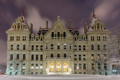 Photograph - Capitol Snow by Brad Wenskoski