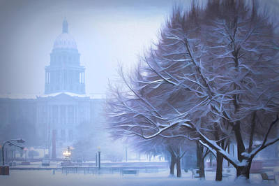 Photograph - Capitol Snow by Kristal Kraft