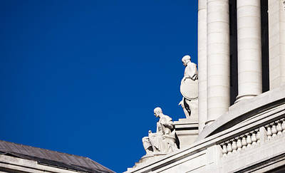 Capitol Statues - Madison Wisconsin-1 Art Print by Steven Ralser