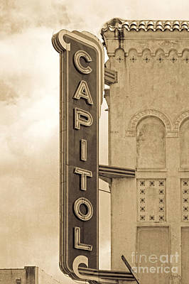 Photograph - Capitol Theater Sign by Imagery by Charly