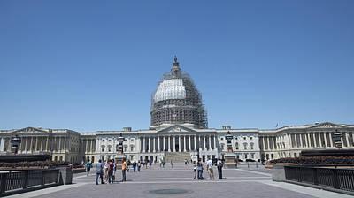 Capitol Under Repair Art Print