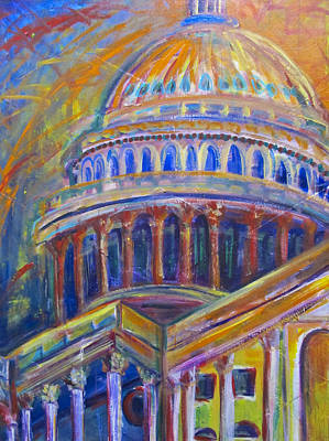 Capitol Building Painting - Capitol Zeal by Mary Gallagher-Stout