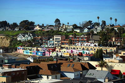 Photograph - Capitola Beach  Rentals Two by Joyce Dickens