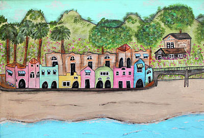 Charming Cottage Mixed Media - Capitola By The Sea by Cindy Kay Frazier