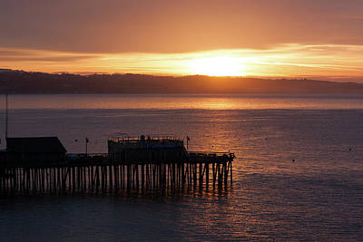 Photograph - Capitola Day Begins by Lora Lee Chapman