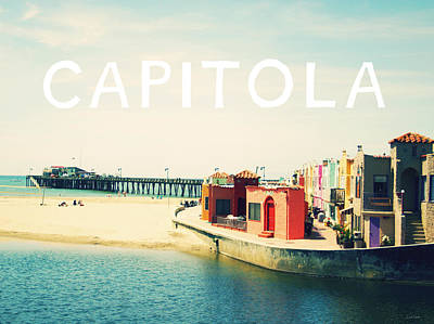Postcard Photograph - Capitola by Linda Woods